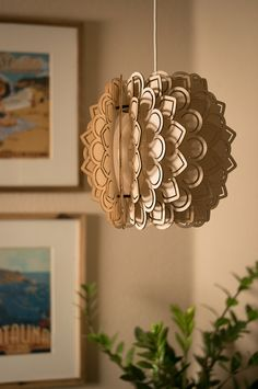Petals Winged Pendant Light Lamp Shade Laser Cut by Driftwith