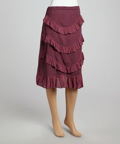 Look what I found on #zulily! Purple Ruffle Tier Skirt by Avatar Imports #zulilyfinds