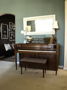 Ideas for Sitting Room with Upright Piano | House & Home