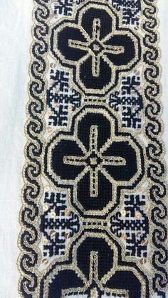 c/o Sanda Luiza Goga Folk Costume, Costumes, Palestinian Embroidery, Cross Stitching, Hand Embroidery, Bohemian Rug, Anthropologie, Textiles, The Incredibles