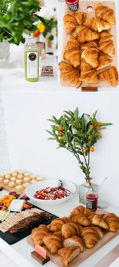 valleybrink road created a stunning spread of citrus themed dishes including grapefruit salad, homemade croissants and lemon shortbread cookies.