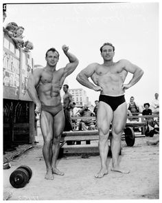 3dced0e614 Zabo and friend, Muscle Beach, 1954 Retro Fitness, Muscle Beach, Weight  Lifting