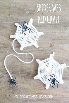 DIY Spider Web Yarn Craft on http://thecraftingchicks.com