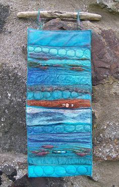 Wall Hanging inspired by the Fairy Pools, Glen Brittle, Skye, via Flickr.