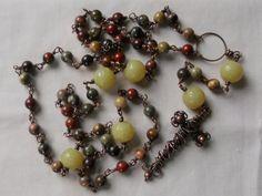 Apple Jasper and Olive Jade Rosary by SunshinesPush on Etsy