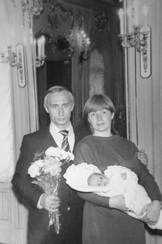 Russian President Vladimir Putin and his ex-wife Lyudmila with their just-born daughter Maria. 1985. Source: ITAR TASS #russia #people #politics