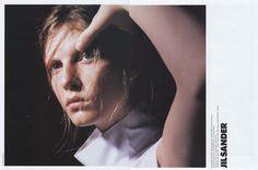 Campaign: Jil Sander Season: Spring 1998 Photographer: David Sims Model(s): Angela Lindvall