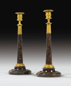 Qing Chen Candlestick of pure copper two-piece for the Buddha light household candle ornaments-D Candles & Holders