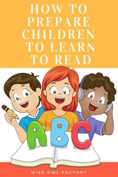 Prepare for Learning to Read in Kindergarten --Before kindergarten, there is much parents can do (even without using books) to help prepare children to learn to read once school begins.