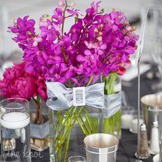 Floral Fuchsia Centerpieces