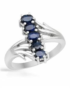 Sterling Silver Ring with 1.25 CTW Sapphires $35.00 #PrivateLabel