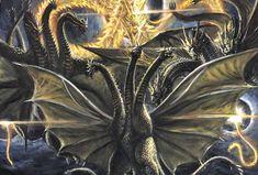 Godzilla Vs King Ghidorah, Alien Vs Predator, Fantasy Creatures, Art Sketches, Thriller, Concept Art, Witch, Marvel, Monster Mash