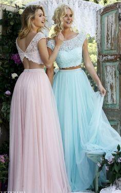 Sherri Hill 50038 Blush Two Piece Princess Prom Dress