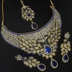 ISHFAQ BLUE PEACOCK NECKLACE @ Inditrend For $53.99USD With Free Shiping Worlwide