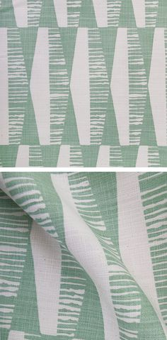 The Skinny laMinx and Heath Ceramics DIMENSIONAL range is available online and in store. The new 'Diamonds' design in Sage is available by the metre.  All of Skinny laMinx fabric is professionally screen printed in South Africa.