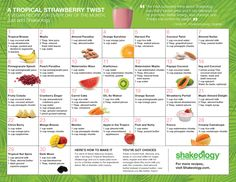 30 Tropical Strawberry Shakeology recipes for your fridge.  If you're interested in learning more about Shakeology, contact me!