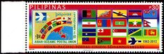 Philippines.  ASIA-PACIFIC POSTAL UNION, 50th ANNIVERSARY.  Issued 2012, Php 30. /ldb.