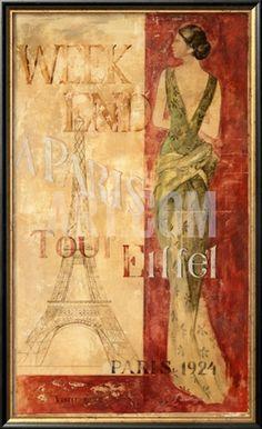 Paris, 1924 Framed Art Print | Item #: 11683533A   Print no longer available