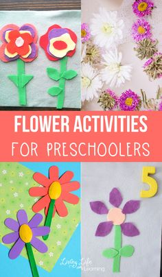 You'll love these fun flower activities for preschoolers to bring flowers inside during those warm months when you can find flowers everywhere. Try some of these cool flower activities, the perfect spring preschool activity. Bubble Activities, Outdoor Activities For Kids, Spring Activities, Bug Crafts, Preschool Activities, Kids Crafts, Paper Flower Art, Flower Crafts, Spring Crafts For Kids