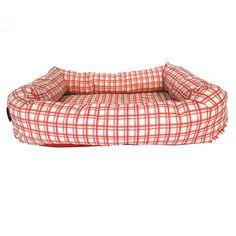 Cama Americana Estampada Bege E Vermelho São Pet - MeuAmigoPet.com.br #petshop #cachorro #cão #meuamigopet