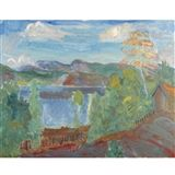 View Sommerdag ved Fjorden (A Summer's Day by the Fjord) By Thorvald Erichsen; oil on canvas; Access more artwork lots and estimated & realized auction prices on MutualArt. Dahl, Summer Days, Oil On Canvas, Diagram, Artwork, Painting, Art Work, Work Of Art, Auguste Rodin Artwork