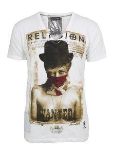 Religion Bandit White T-Shirt XL: Amazon.co.uk: Clothing