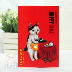 Whosales Postcards Lancy Cat 9 Postcards Happy Life $6.59