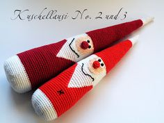 Happy August & autumn crochet, X-mas is knocking at your door, only four month left <3<3<3 / Pfiffigstes Häkelblog: Ahhhh, Weihnachten kommt, aber zuerst der Herbst. Amigurumi santa.