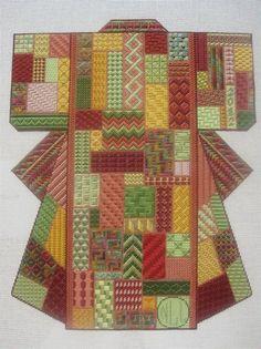 Margaret Bendig's Plum Blossom Kimono stitched in a different color scheme