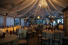 tent wedding at night@ Black Hills Receptions