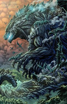 Godzilla: Planet of Monsters print by Matt Frank