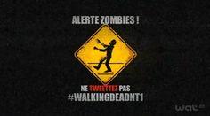 Après les vampires, la chaîne NT1 et Darewin créent la panique sur les réseaux sociaux pour la diffusion le 2 novembre prochain de la première saison de Walking Deads.    Ils se passent de drôles de choses sur Twitter. Depuis deux jours de nombreux comptes du réseau social sont attaqués, suivis par des morts vivants.   Ne les attirez pas en tweetant le hashtag #WalkingDeadNT1