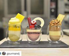 Trio of Verrines: 1) Tropical 2) Berries 3) Chicolate #bachourclass #bachour1234 #bachoursimplybeautiful #bachour #bachourbook | par Pastry Chef Antonio Bachour