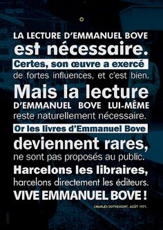 Charles Dotremont A Propos DEmmanuel Bove Aout 1871