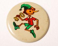 Perno d'epoca, Pinocchio, Buratino distintivo, dall'URSS