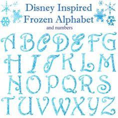 Bevroren Winter Kerstmis Snowflake alfabet door OneStopAlphabetShop