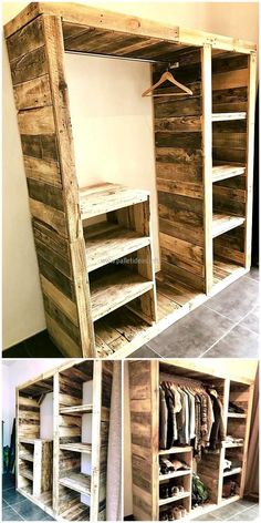 pallets clothes wardrobe