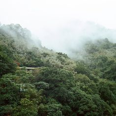 Taiwan. Wulai. Surrounded by beautiful turquoise blue river and green forest.