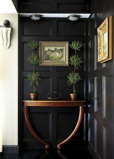 Glamorous Chic Life . . . black paneled walls