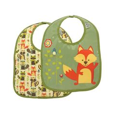 What does the fox say? It says your little one will love wearing the adorable SugarBooger Mini Bib during mealtime. www.rightstart.com