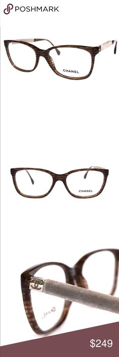 CHANEL Clear Marble Havana Eyeglasses beige Velvet Clear Marble Havana Eyeglasses with CHANEL case. Velvet temples  53mm-16mm-140mm  Without Tags!!!  Includes an original Chanel case only.  Guarantee 100% Authentic CHANEL Accessories Glasses