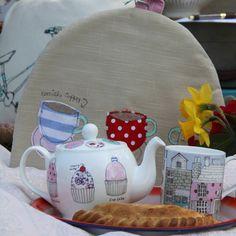 tea set and tea cosy