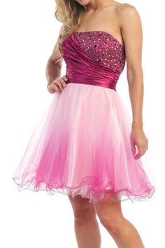 A Line/Princess Strapless Sweetheart Neckline Home Coming Party Holiday Cocktail Short Prom Dress With Ruffle Beading