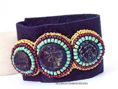 NEW Bohemian Cuff Boho Cuff Boho Leather by AlliecatDesignStudio