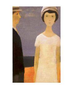 Le Couple by Jean Paul Lemieux Jean Paul Lemieux, Fashion Painting, Canadian Artists, Couple Art, Oeuvre D'art, Lovers Art, Painting Inspiration, Framed Artwork, Wall Art