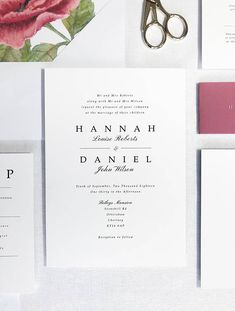 Elegant and classic, this invitation suite exudes elegance. Featuring both calligraphy and traditional fonts, for the perfect classic look. The timeless design will most definitely leave a lasting impression with you guests, and set the perfect tone for your big day. This suite