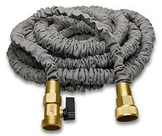Best 50′ Expanding Hose by (Titan), Strongest Expandable Garden Hose In The World. Solid Brass Connectors, Double Layer Latex Core, Extra Strength Fabric, 3/4 USA Standard  ★STRONGEST EXPANDABLE HOSE AVAILABLE TODAY. This is the highest quality expandable hose available on the market.  ★SOLID BRASS ENDS.Don't settle for cheap plastic fittings, We only use the highest quality 100% Brass Fittings on our hose products.   ★ FORGET KINKING, TANGLING, AND TWISTING. Our Titan hose is engine..