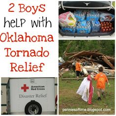 2 Boys Help with Oklahoma Tornado Relief: Pennies of Time {Random Acts of Kindness} | All Done Monkey