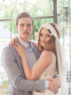 jannie baltzer 2016 bridal accessories lottie bohemian veil french lace embellished