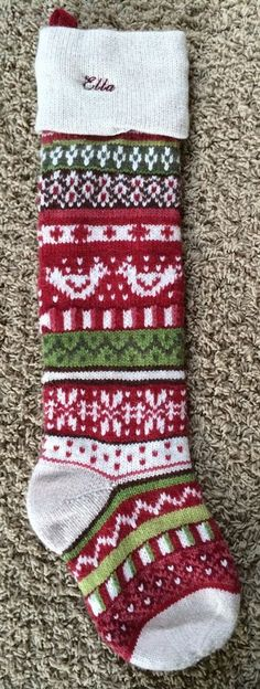 POTTERY BARN KIDS RUDOLPH RED NOSED REINDEER CHRISTMAS STOCKING NO ...